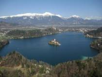 Bled, Castle, lake, curch, island, Pletna, Julian Alps