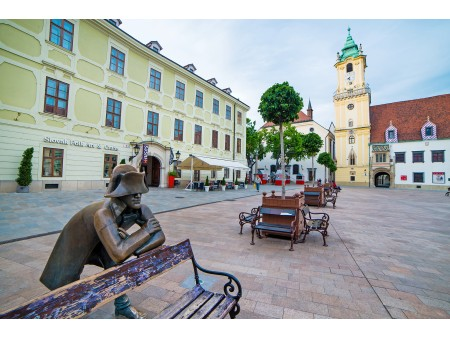 Bratislava Main City Square in Old Town
