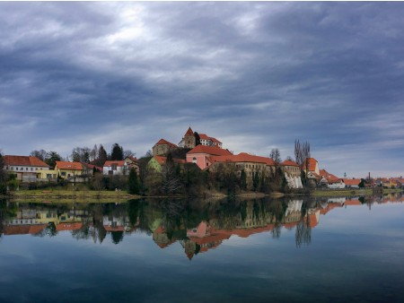 Ptuj and river Drava