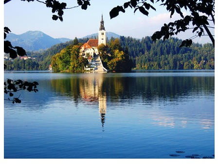 the water mirror at Lake Bled