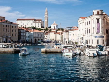 Piran with Saint George church